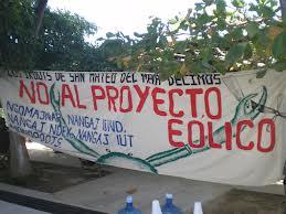 no al proyecto eólico