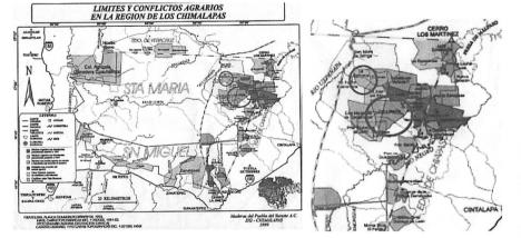 Mapa Chimalapas
