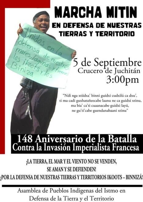 148 aniversario batalla de juchitán